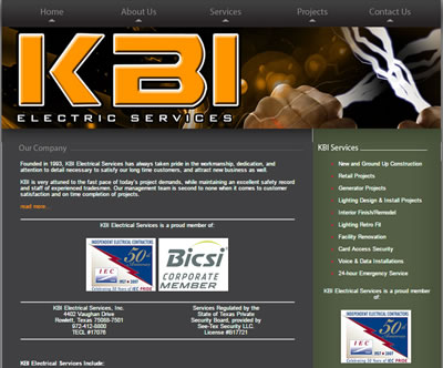 Affordable Small Business SEO KBI Electrical Dallas