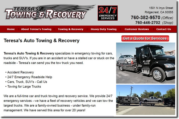Small Business SEO Services-Towing Hauling Southern California